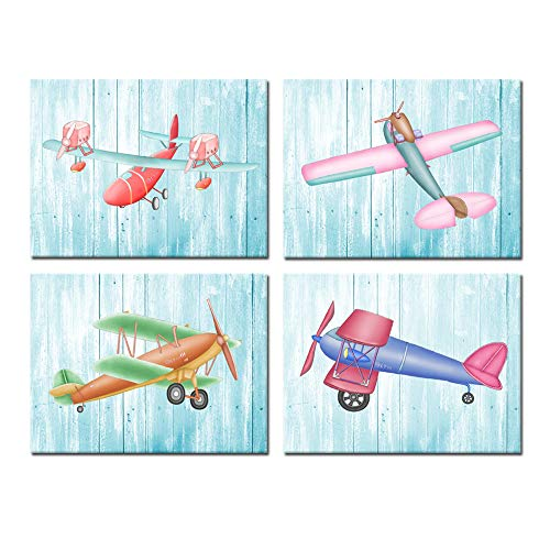 Kreative Arts Canvas Airplane Decor Propeller Engine Aircraft