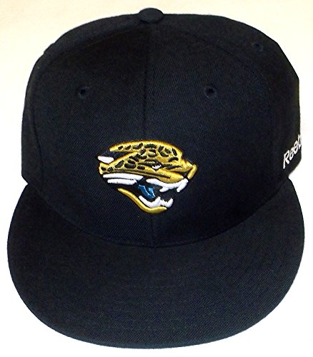 Reebok Jacksonville Jaguars Black Sideline Flat Bill Fitted Hat ()