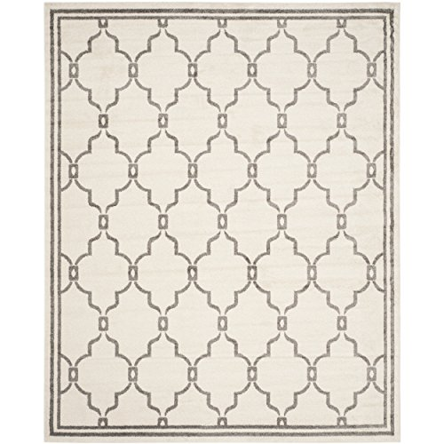 Safavieh Amherst Collection AMT414K Ivory and Grey Indoor/ Outdoor Area Rug (9' x 12')