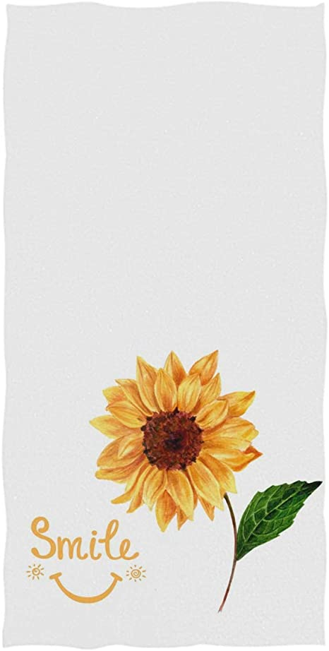 Amazon Com Pfrewn Sunflower Hand Towels 16x30 In Rustic Sunflowers Floral Thin Bathroom Towel Ultra Soft Highly Absorbent Small Bath Towel Bathroom Decor Kitchen Dining