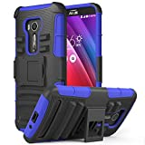 Zenfone 2 Laser Case, MoKo Shock Absorbing Hard Cover Ultra Protective Heavy Duty Case with Holster Belt Clip + Built-in Kickstand for ASUS Zenfone 2 Laser (ZE550KL / ZE551KL) 5.5 Inch - Indigo