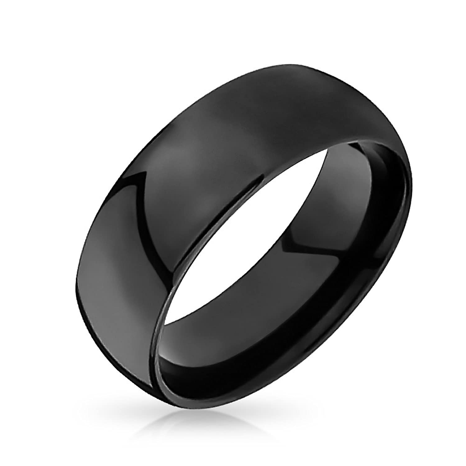 Bling Jewelry Black Tungsten Mens Wedding Band Ring 8mm Amazoncom