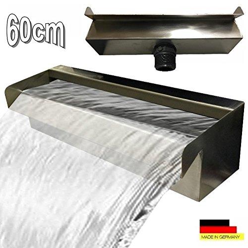 Edelstahl Wasserfall Wasserspiel Kaskade V2A Made in Germany 30,60,90cm (60 cm)