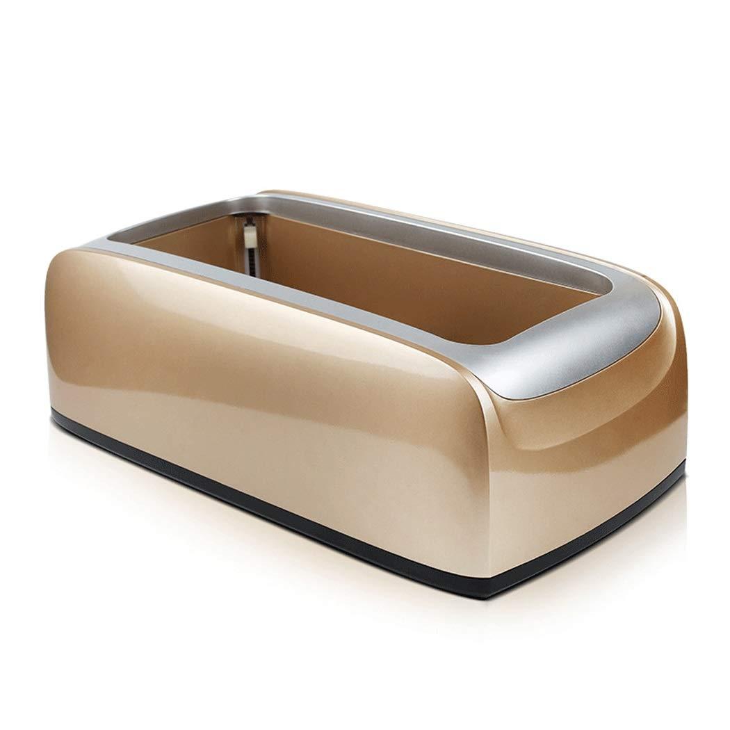 Yongyong Automatic Plastic Shoe Cover Machine Disposable Home Shoe Machine Office Foot Machine 40 22 15cm (Color : Gold)