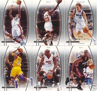 Fleer Hot Prospects 2006 2007 NBA Basketball Series 60 Card Mint Set with Michael Jordan, Lebron James, Kobe and Others