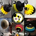 Drill Brush - Drill Powered Scrubber Pads and Brushes For Bathroom - Kitchen and General Purpose Cleaning