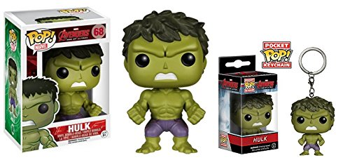 Funko POP! Marvel Hulk Avengers 2 Age of Ultron Action Figure and Key Ring