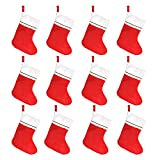 "Tall 15"" Red Felt Christmas Holiday Stockings (12 Pack)"