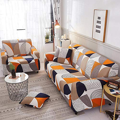 Tubwair Universal Four Seasons Sofa Slipcovers All-Inclusive  Sofa Slipcover Stretch Anti-Skid Elastic Couch Settee Sofa Covers (2 Seater,2#)