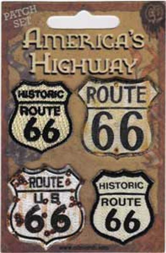 Application Road Signs Route 66 Patch Set, 4-Piece by Application