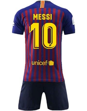 5b0556ba2b7 NSFANS Barcelona Camiseta Jersey Futbol 2018-2019 Traje de niños de Manga  Corta