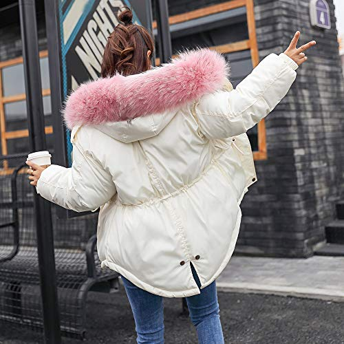 Tactical Size Paragraph Windproof Women Women Warm Thickening Sweatshirt Hoodie WNGO Jackets Lammy Outwear Thicker Overcoat Parka White Large Blouse Tops Slim Coat Pattern Pocket Breathable Outdoors qBpwn7f