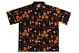 Wave Shoppe Men's Wine Tasting Hawaiian Shirt, Black, Small