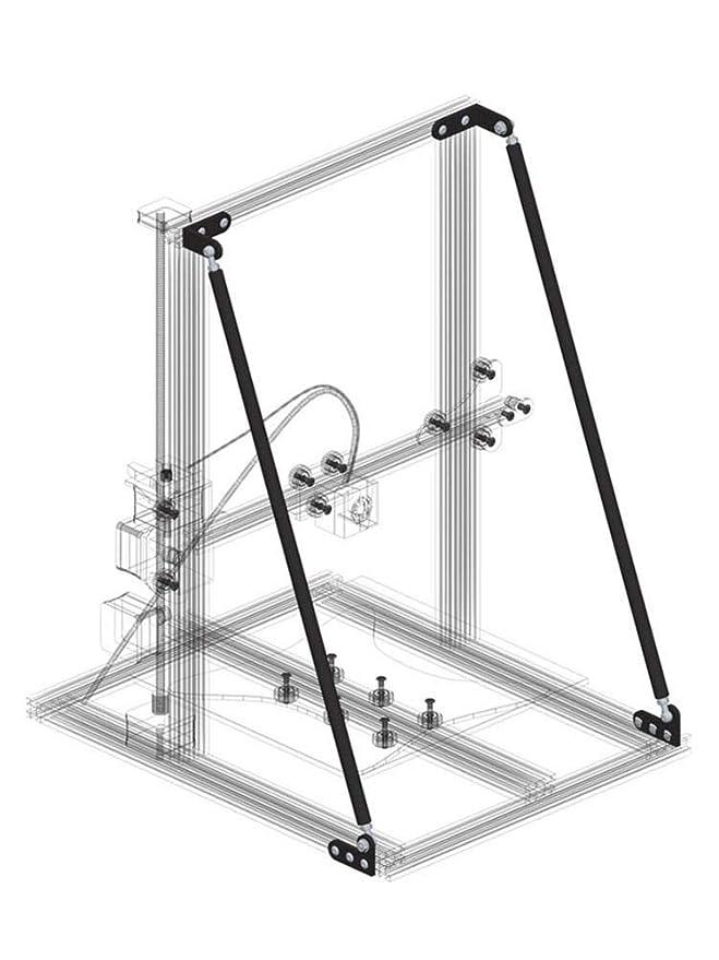 FLOLOWING Kit de impresión 3D de perfil aluminio para impresora ...