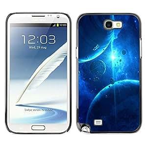 Planetar® ( Clash Of Lightening ) SAMSUNG Galaxy Note 2 II / N7100 Fundas Cover Cubre Hard Case Cover