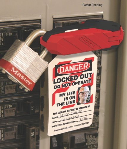 Outdoor Accuform Signs KDD160 STOPOUT 120/240 Circuit Breaker Lockout (Single (Changeable Garden Sign)
