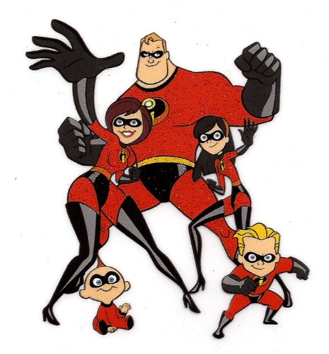 The Incredibles Family  Iron On Transfer for T-Shirt ~ Mr. Incredible ~ Elastigirl ~ Violet ~ Dash ~ Jack-Jack