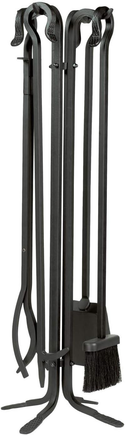 Black Dagan Five Piece Wrought Iron Fireplace Tool Set DG-5836