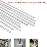 Aluminum Alloy Welding Brazing Soldering Repair 17'' Rod Cracks Polish Boat 10pcs