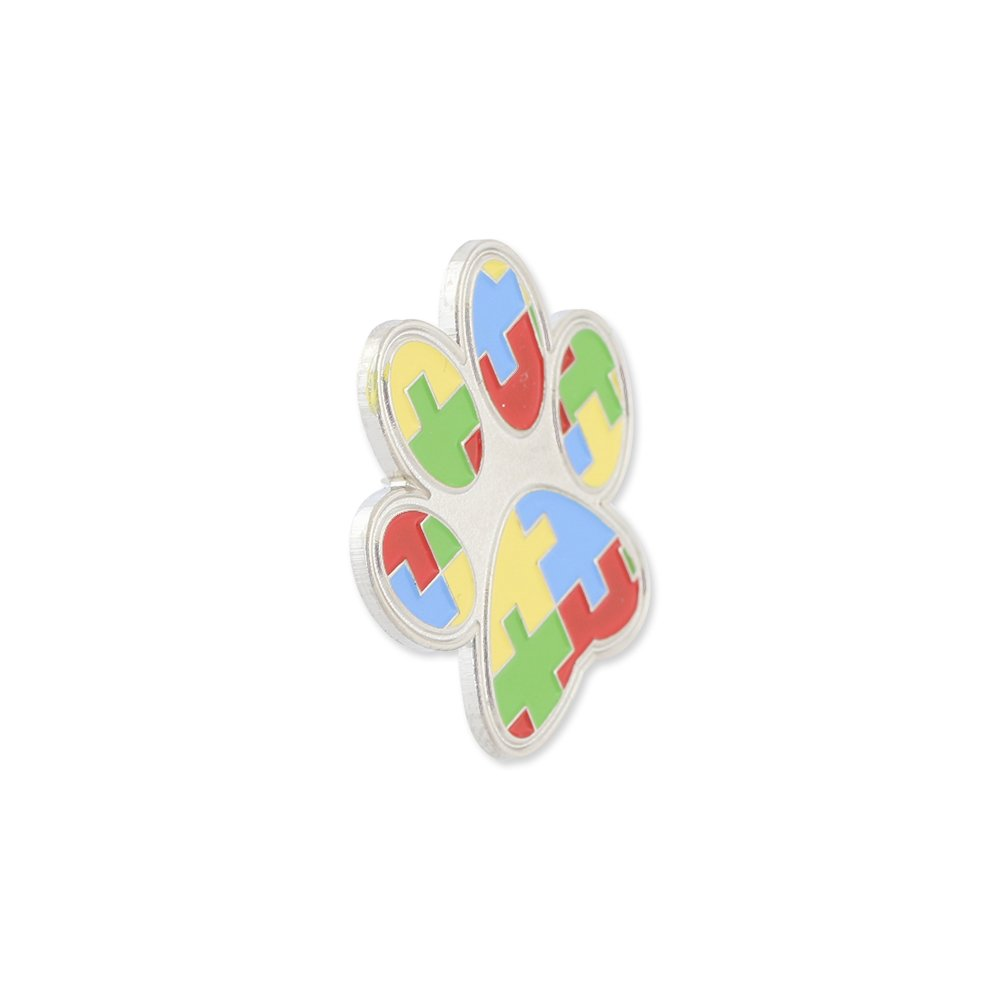 WIZARDPINS Paw Print Autism Color Puzzle Pieces Lapel Pin– 5 Pins by WIZARDPINS (Image #3)