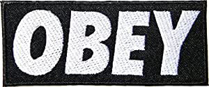 OBEY Logo Jacket T shirt Patch Sew Iron on Applique Embroidered Symbol Badge Cloth Sign