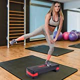 "Sandinrayli Adjust 4"" 6"" Exercise Stepper for Sports & Fitness Step Platform with Adjustable Risers"