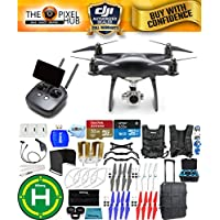 DJI Phantom 4 Pro+ Black Obsidian Edition Drone Pro Bundle With Rolling Case, Vest Strap, Extra Props, Filter Kit Plus Much More (1 Battery Total)