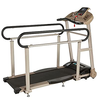 EXERPEUTIC TF2000 Senior Fitness Walking Treadmill with Extended Capacity, Deck Cushions and Heart Rate Monitoring