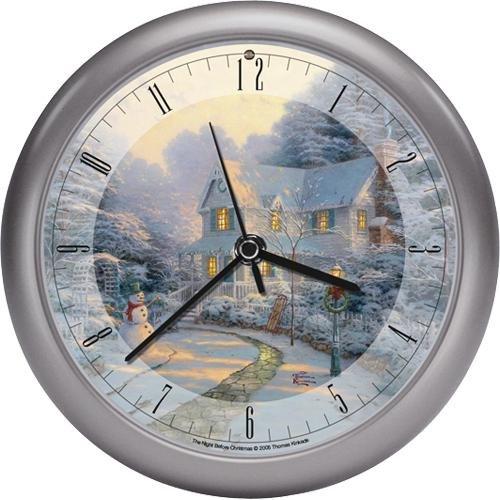 Thomas Kinkade - winter wonderland wall clock