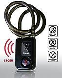 Nulock Keyless Bluetooth Bike/Motorcycle/Gate Lock IP44 Splash-proof Cycling Lock with 110db Alarm, 0.38