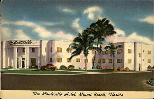(The Monticello Hotel Miami Beach, Florida Original Vintage Postcard)