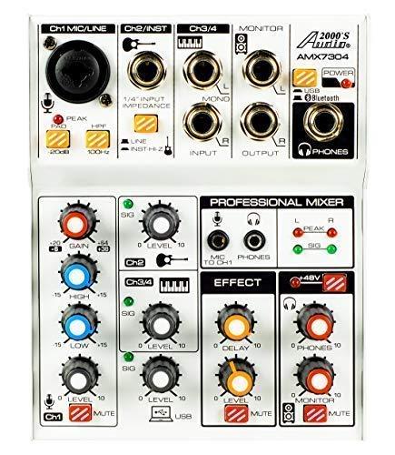 Audio2000 AMX7304 - Mezclador de audio de cuatro canales ...