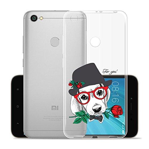 Cover para XiaoMi RedMi Note 5A Prime 5.5 , WenJie Ultrafino Transparente Patrón de dibujos animados TPU Silicona Suave Funda Case Tapa Caso Parachoques Carcasa Cubierta para XiaoMi RedMi Note 5A Pri WM134
