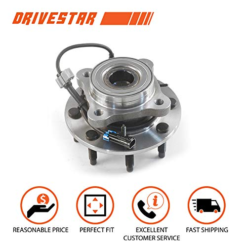 (4WD DRIVESTAR 515058 Front 8-LUG Wheel Hub & Bearing Assembly fits GMC Pickup Trucks Pickup ABS)