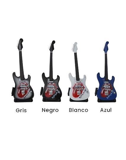 Hogar y Más - Guitarra en miniatura replica Fender Stratocaster Rolling Stones Edición Rock Legends -