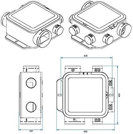 Grupo vmc simple flujo easyhome auto compacto.