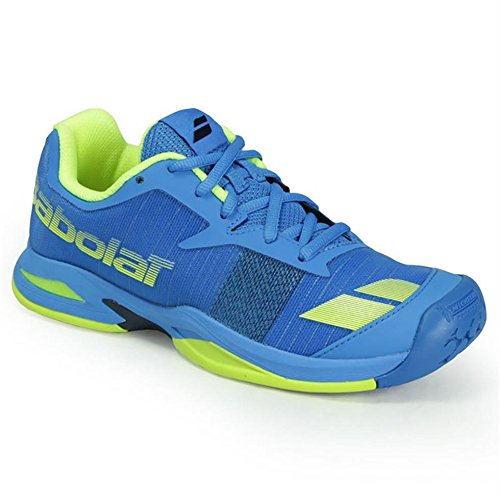 Price comparison product image Babolat Junior Jet All Court Tennis Shoe Blue/Yellow (5.5)