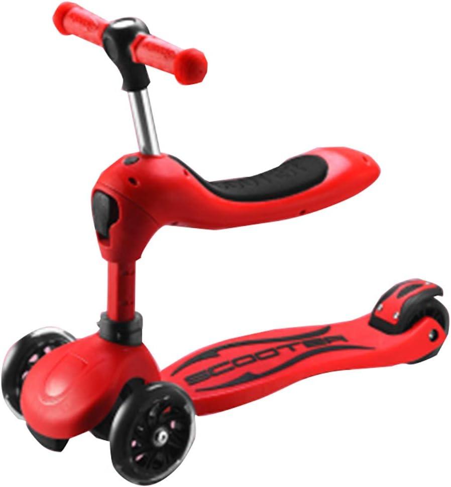 点滅する車輪のスクーター4の車輪の折り畳み式3の高さの調節可能で滑らかな乗車は操縦するために傾きますキックスクーター軽量を運ぶこと容易1-8年子供 A
