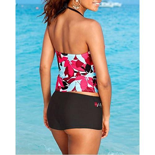 9c6772f4d1 Femme Maillots De Bain Deux Pièces Shorty Tankini Imprimé Grande Taille ...