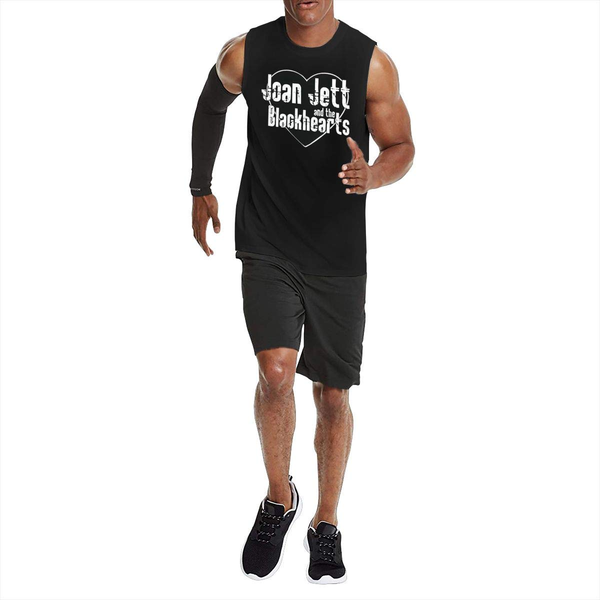 KABASHIJI Joan-Jett-and-The-Blackhearts Mens Tank-Top Sleeveless T Shirt 100/% Cotton Bodybuilding Tshirt Black