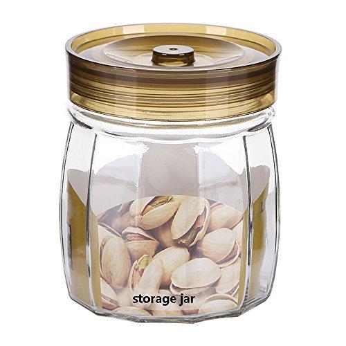 Round Glass Sealed Jar Thickening Glass Jar Moisture-proof Fresh Storage Tank Tea Pot Storage Bottle
