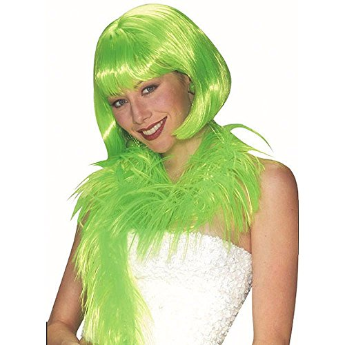 [Lime Short Bob Costume Wig] (Lime Green Wigs)