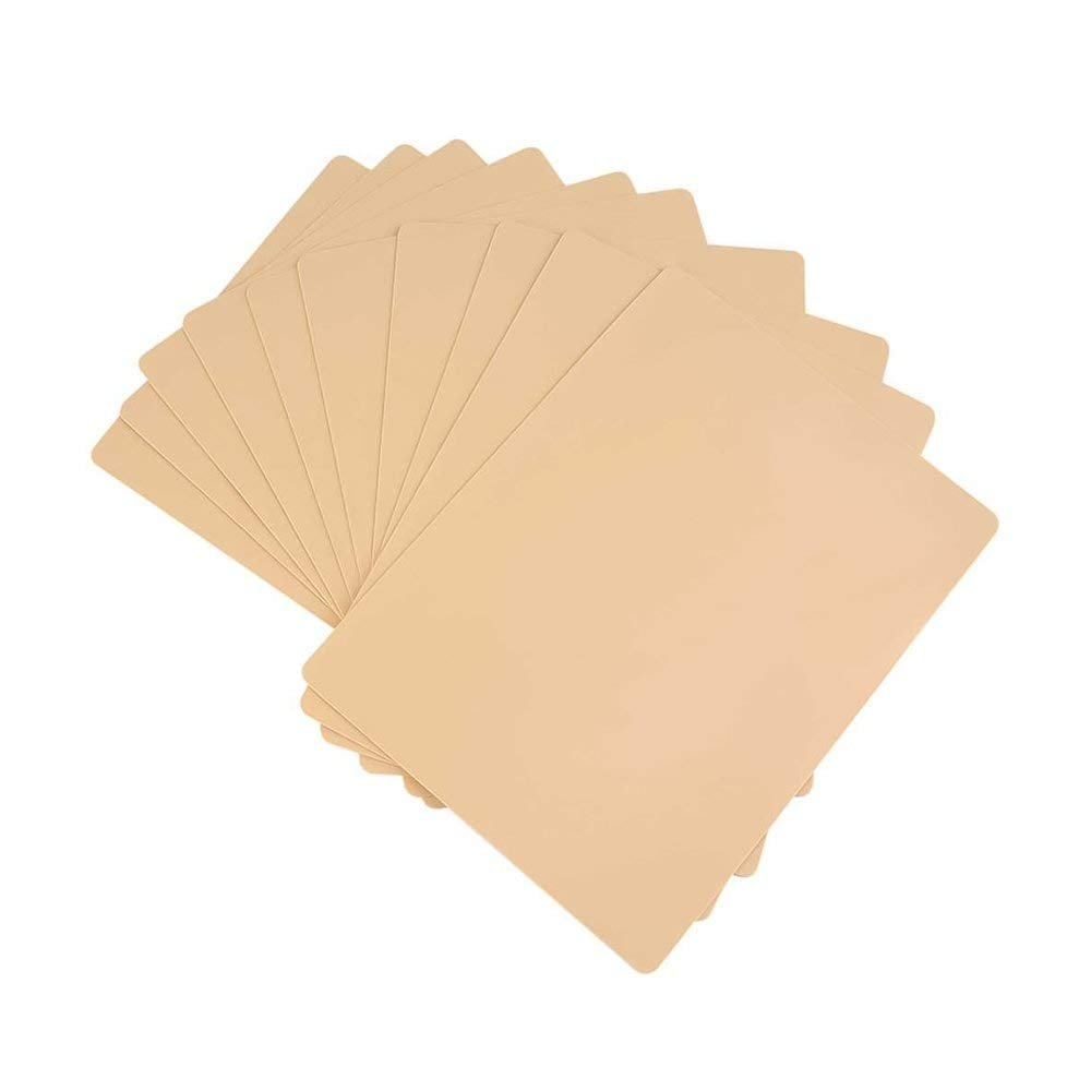 10 Pieces Tattoo Practice Skins Blank Tattoo Practice Skin Sheet for Tattoo Acessories 20cmx15cm (8
