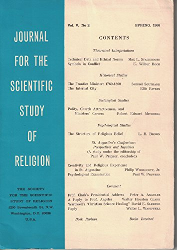 Journal for the Scientific Study of Religion (Spring 1966, Vol. V, No. 2)