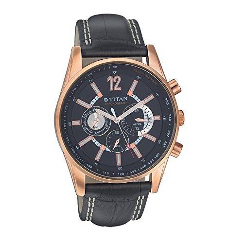 Titan Octane Chronograph Black Dial Men's Watch