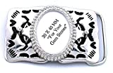 40x30 40mm x 30mm Oval Cab Silver Color Southwest Western Belt Buckle Mounting CF936