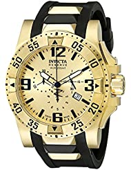Invicta Mens 6267 Reserve Collection Chronograph Excursion Edition Gold-Plated Watch with Black Band