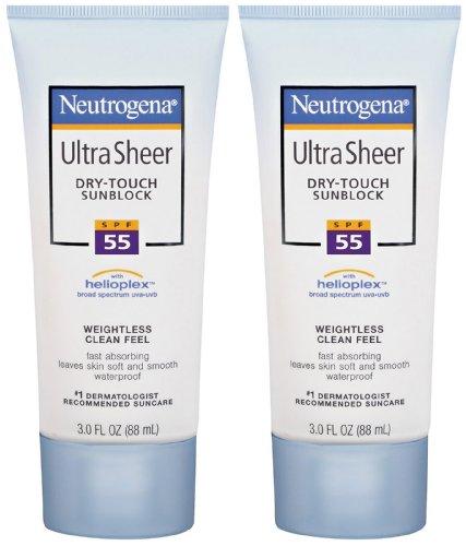 Neutrogena Ultra Sheer Sunscreen SPF 55 - 3 oz, 2 pk