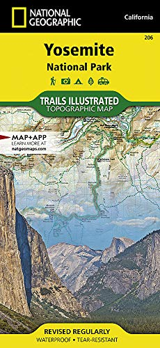 - Yosemite National Park (National Geographic Trails Illustrated Map)