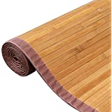 Yaheetech Bamboo Area Rug Carpet 5u0027x 8u0027/4u0027 X 6u0027Brown Natural Bamboo Wood  Floor Mat (8 X 5 Ft)